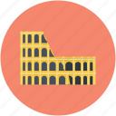 arena, coliseum, hippodrome, historical place, monument icon