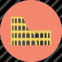 arena, coliseum, hippodrome, historical place, monument icon