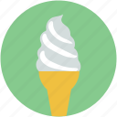 cone, dessert, food, frozen food, ice cream icon