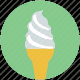 cone, dessert, food, frozen food, ice cream icon