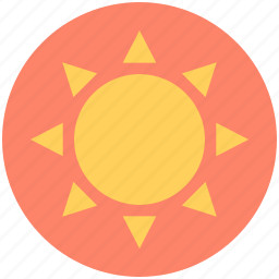 sun, sun beams, sunlight, sunny day, sunshine icon