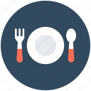 cutlery, dinnerware, kitchen, plate, spoon icon