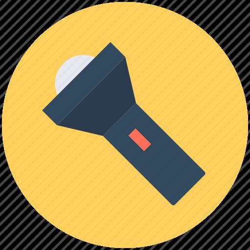 flashlight, light, pocket torch, torch, torch light icon