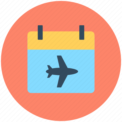 calendar, flight, flight schedule, timeframe, wall calendar icon