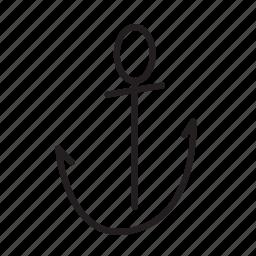 anchor, cruise, sea, ship icon