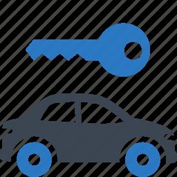 car rental, rent a car, travel icon
