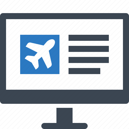 flight booking, online booking, vacation icon