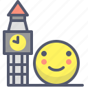 england, clock, bigben, london, time, visit, trip icon