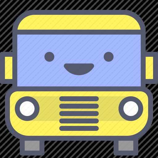 bus, car, cartoons, school, trip icon
