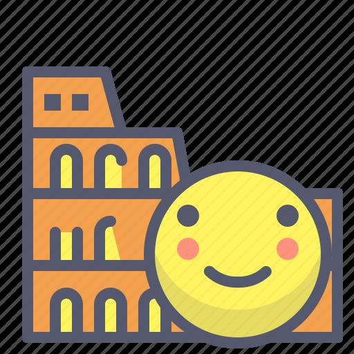 breakcity, colosseum, italy, rome, trip, visit icon