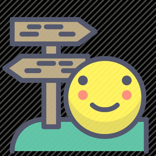 arrow, direction, map, navigation, option, trip icon