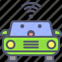 car, electric, it, network, smart, wifi icon