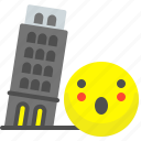 breakcity, italy, pisa, tower icon