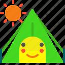 adventure, day, sun, tent, trip