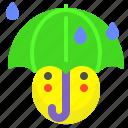 hide, rain, umbrella, weather icon