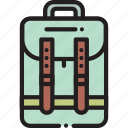 accessory, backpack, bag, travel icon