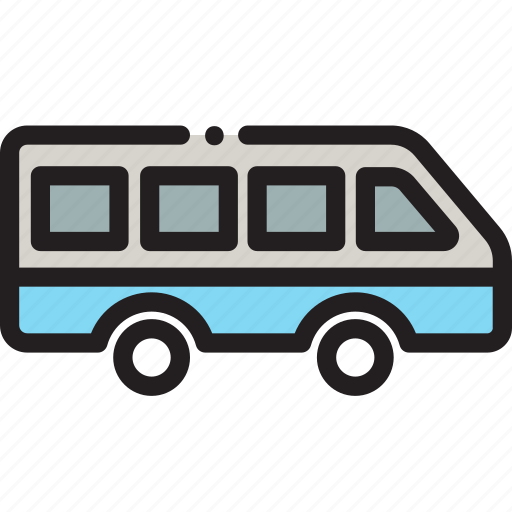 bus, transport, travel icon