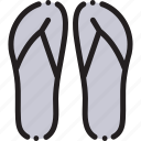 beach, flipper, flippers, sea, travel icon