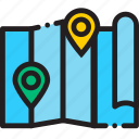 map, pin icon