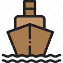 ship, transport, travel, water icon