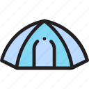 camp, outdoor, tent icon