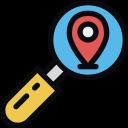 destination, location, place, search icon
