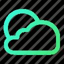 cloud, nature, rain, sun, travel, weather icon