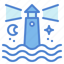 buildings, guide, lighthouse, scenery, tower icon