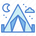 camping, holidays, tent, tents, triangular icon