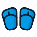 flipflop, footwear, sandal, sandals icon