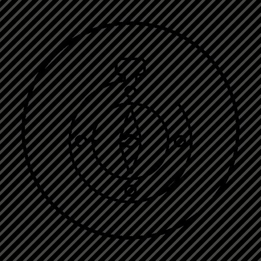 compass, direction, gps, navigation, north icon