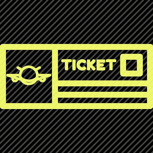 air ticket, flight, flight ticket, plane, plane ticket, ticket icon