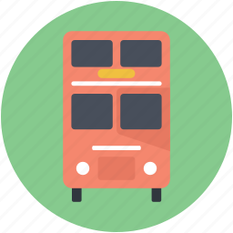 bus, double-decker, london bus, public transport, transport icon