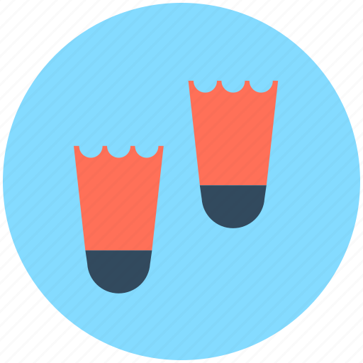 diving, diving fins, scuba fins, swimming fins, swimming flippers icon