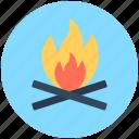 campsite, campfire, bonfire, camping, hiking