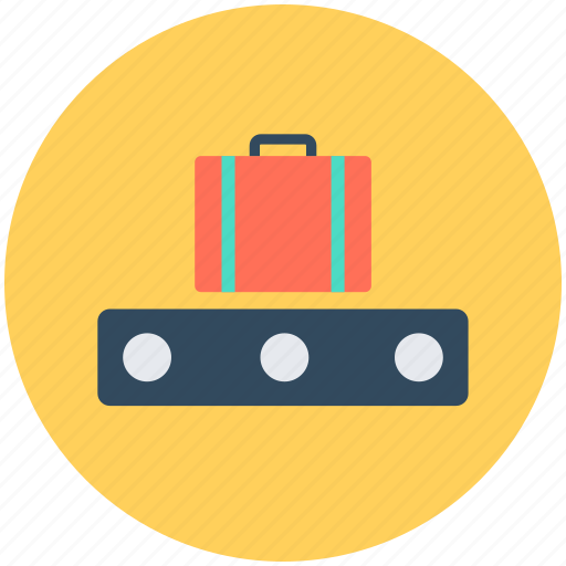 bag, briefcase, conveyor belt, luggage, suitcase icon