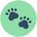 animal foot, animal paw, dog paw, paw print, pet footprint icon
