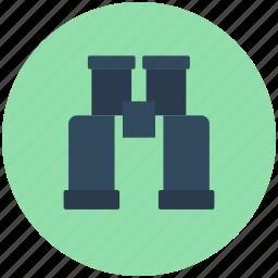 binocular, field glass, magnifying glass, search, spyglass icon