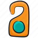 door access, door handle, door knob, door label, door tag icon
