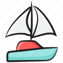 boating, rafting, water rafting, water sports, yacht icon