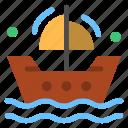boat, boating, ships icon