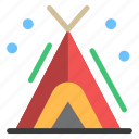 camping, tent, travelling icon