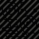 distance, location, pins icon
