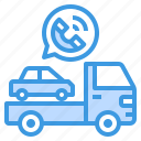 assistance, emergency, tow, truck icon