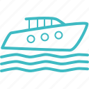 boat, cruise, holiday, ship, travel, vacation icon