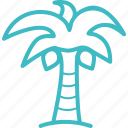 coconut, forest, holiday, nature, plant, travel, tree icon