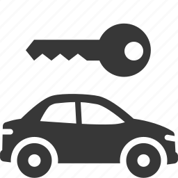 auto, car rental, rent a car icon