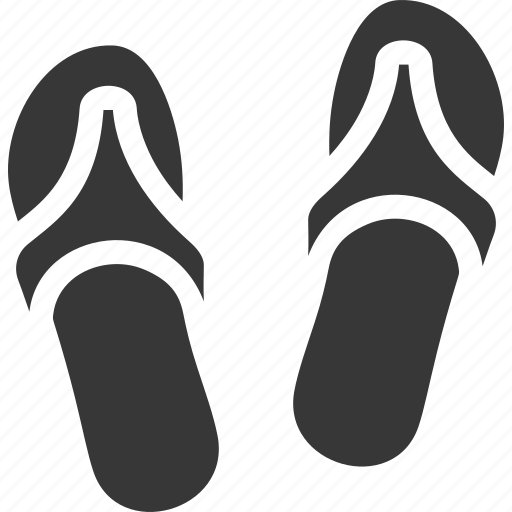 flip flops, footwear, slippers icon