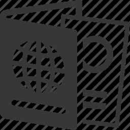 document, id, passport icon