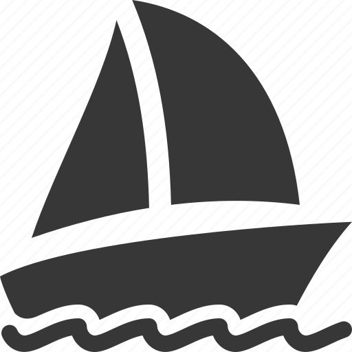 travel, vacation, yacht icon